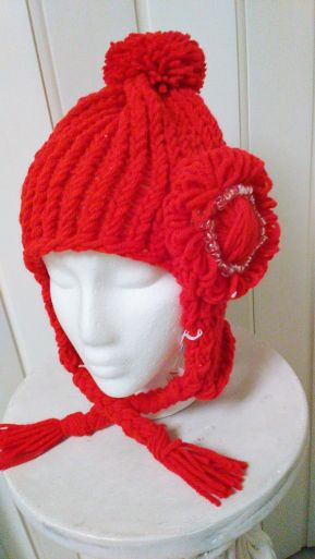 Little Red Knitted Hood